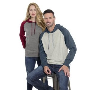 Initial unisex hooded and raglan sleeve sweater